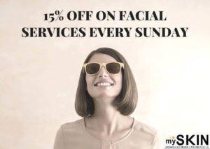 mySKIN Sunday Facial Promo